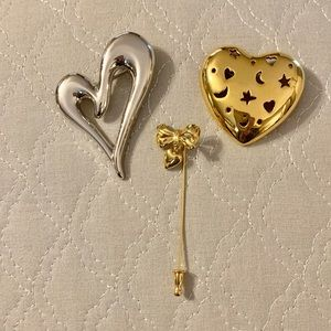 Vintage MONET HEART PINS/Brooches